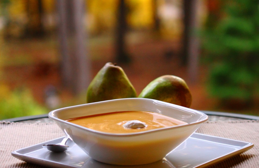 Pear, Sweet Potato, and Jalepeno Soup