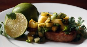 Pan-Seared Pork with Pineapple-Kiwi Salsa