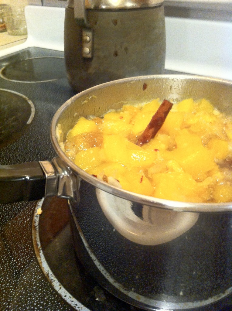 Mango Chutney Cooking