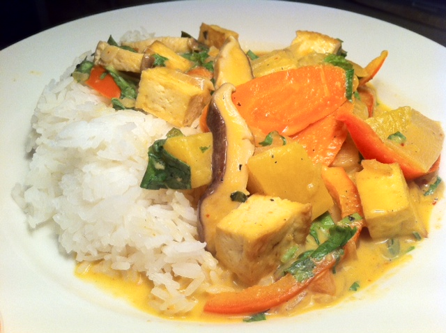 Thai Pineapple Curry with Tofu