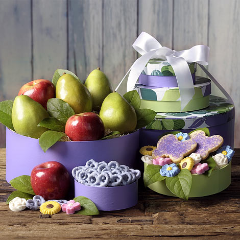 easter, easter gift, Easter Suprise Tower, Easter tower, holiday, Fruit, Freshfruit, Cookie, pretzels, The Fruit Company, Thefruitcompany.com