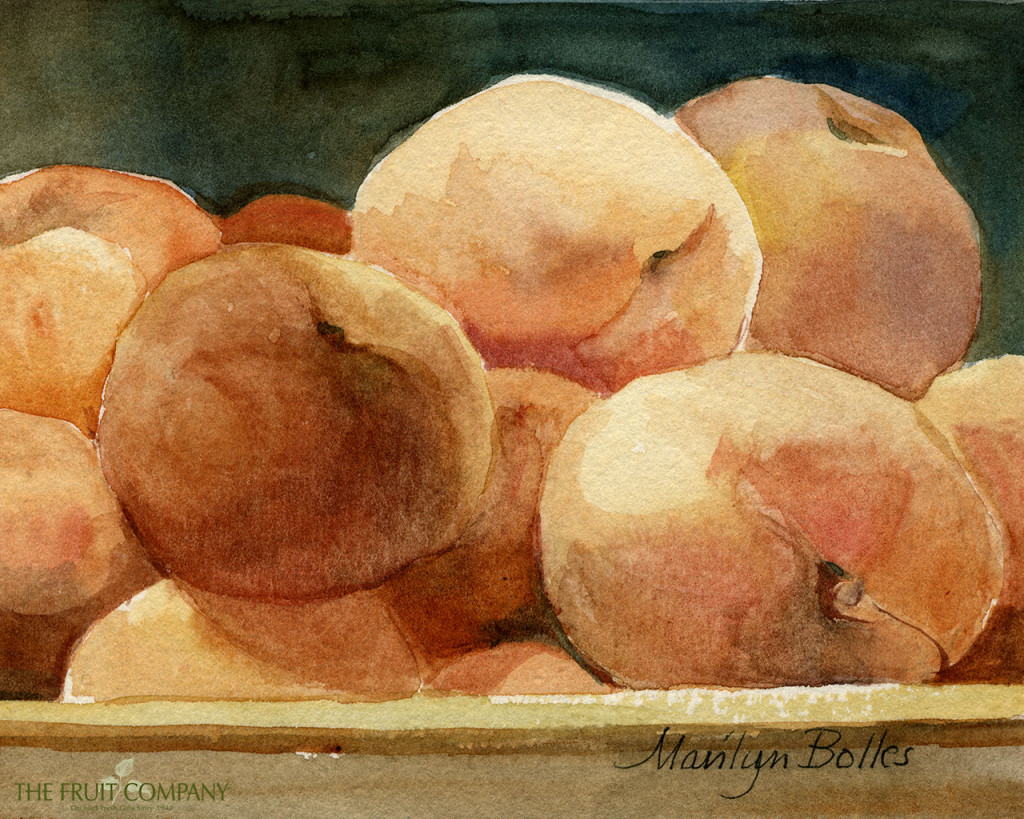 Peaches, Wallpaper, Wednesday, Fruit, The Fruit Company, Desktop, Fresh fruit, Watercolor