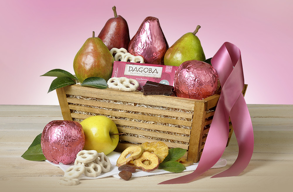 breast cancer, pink basket, The Fruit Company, Awareness, Health, Womens Health
