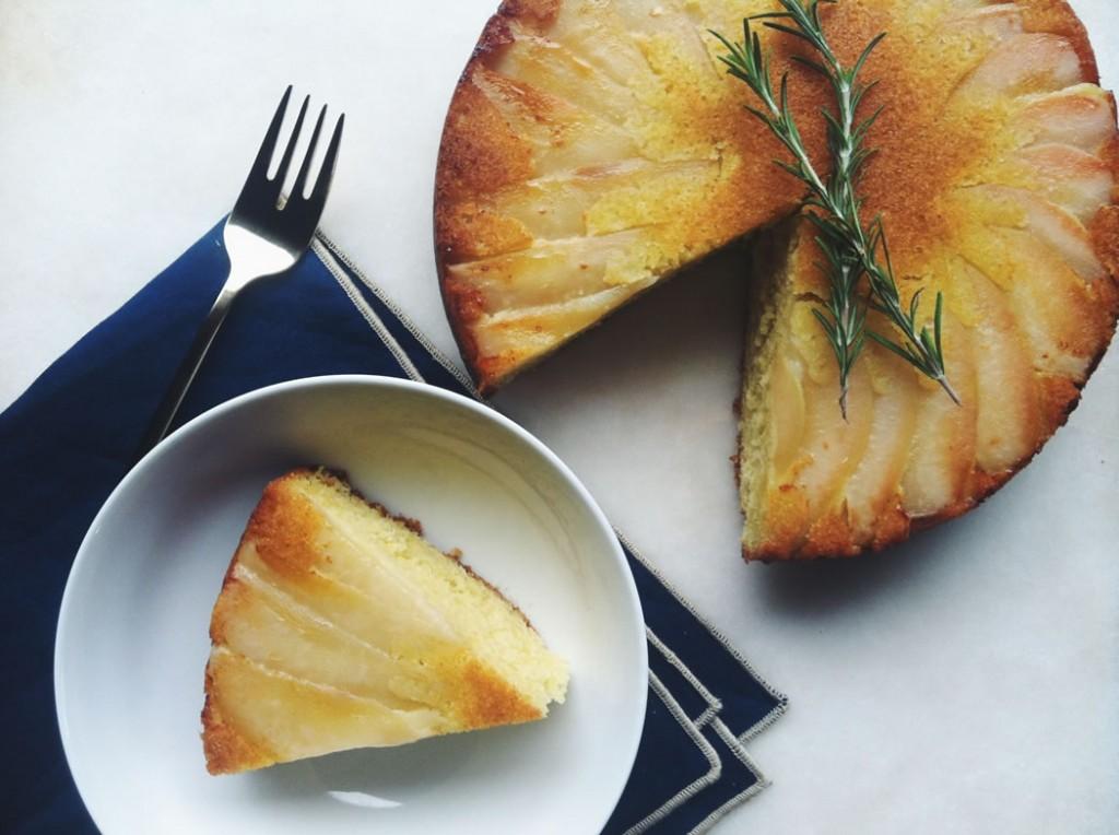 TFC upside pear cake3