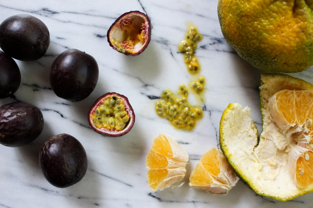 Passion fruit and Ugli fruit from The Fruit Company HarvestClub Exotica monthly fruit delivery