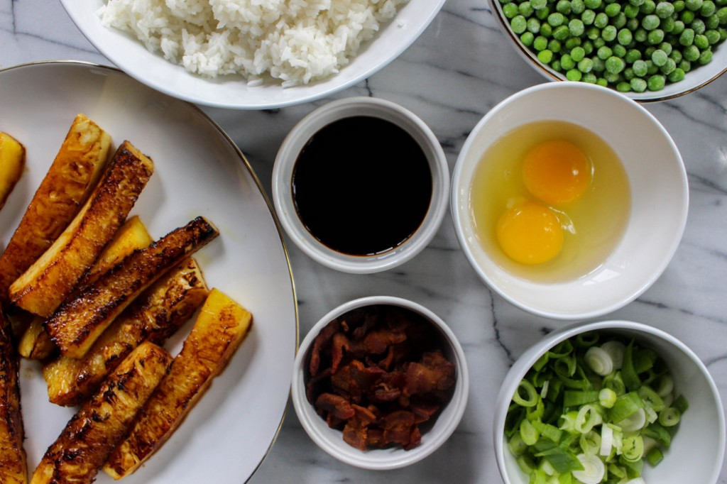 Grilled Pineapple Bacon Fried Rice Recipe on The Fruit Company Blog