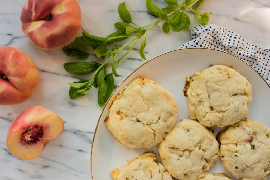 White chocolate, basil and peach scone recipe on The Fruit Company Blog