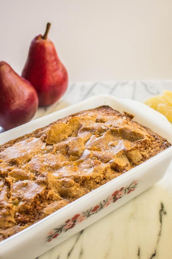 Starkrimson Pear Gingerbread Tea Cake Recipe on The Fruit Company Blog