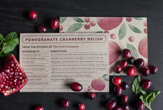 Printable Recipe Card on The Fruit Company Blog
