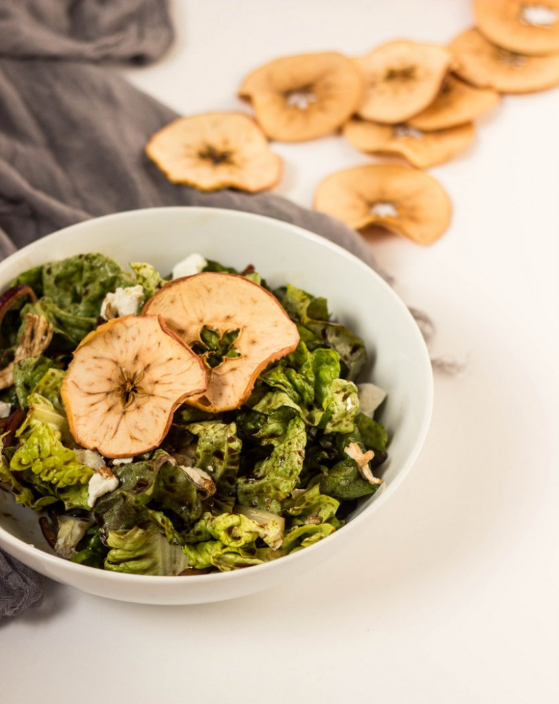 Apple Chip Salad with Red Onion + Balsamic