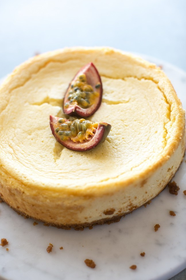 White Chocolate Passion Fruit Cheesecake Delight