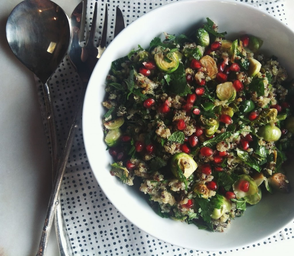 Pomegranate and Brussel Sprout Salad Recipe on The Fruit Company blog.