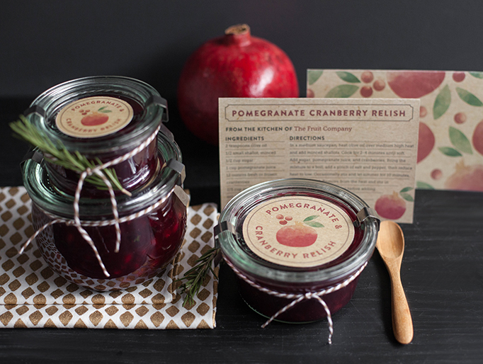 Printable Recipe Cards and Gift Labels on The Fruit Company Blog